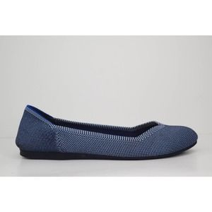 Rothy's Retired The Flat Shoe Blue Birdseye Size 8